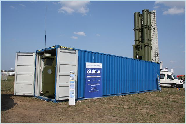 The Russian Company Morinformsystem-Agat JSC has unveiled a unique cruise missil system which is deployed and can be fired from a standard 40-foot shipping civil container, from ships, rail cars or even off the back of a truck.
