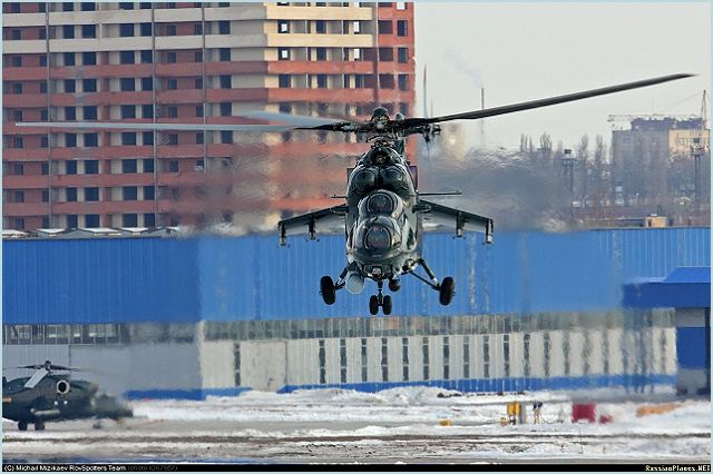 Two Russian-made Mi-35M combat helicopters have been delivered to Azerbaijani capital Baku over the weekend, local media reported on Monday, April 9, 2012. Two helicopters departed Friday, April 6, 2012, from Russia's Rostov-on-Don- based Rosvertol JSC and have been delivered to Baku by Volga-Dnepr AN 124 100 long range heavy transport aircraft.