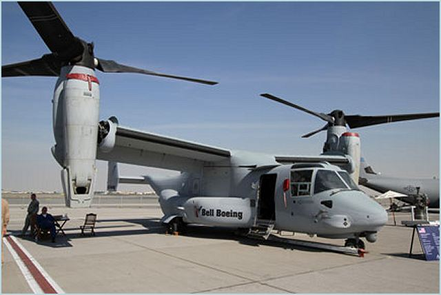 The Bell Boeing V-22 Program, a strategic alliance between Bell Helicopter, a Textron Company [NYSE: TXT] and The Boeing Company [NYSE: BA] announced that the V-22 Osprey titlrotor will be featured at the Dubai International Air Show in the United Arab Emirates from November 13 – 17.