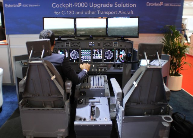 Esterline higlights its proven Cockpit 9000 upgrade solution for military airlifters at DAS 15 640 001