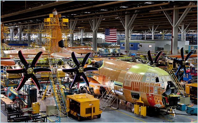 The first MC-130J Commando II that will be converted to become an AC-130J Gunship is being built at the Lockheed Martin [LMT] C-130 production facility here.