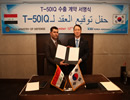 KAI, or Korea Aerospace Industries, Ltd. has signed the contract with Iraq for exporting its T-50 aircraft, total of over $1.1 billion. KAI will provide 24 T-50 supersonic advanced jet trainer & light attack and training system including pilot training.