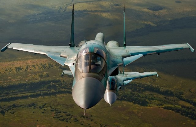 Russian aircraft manufacturer Sukhoi today announced the operational deployement of two new fighter-bomber aircraft. Ttwo Su-34 frontline bombers took off the airport of the Sukhoi Company's branch – the V.P. Chkalov Novosibirsk aviation plant and headed to the place of deployment at one of the air bases in the South of Russia.