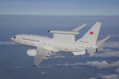 Boeing is helping Turkey improve its self-defense capabilities with the recent delivery of the first Peace Eagle Airborne Early Warning and Control aircraft.