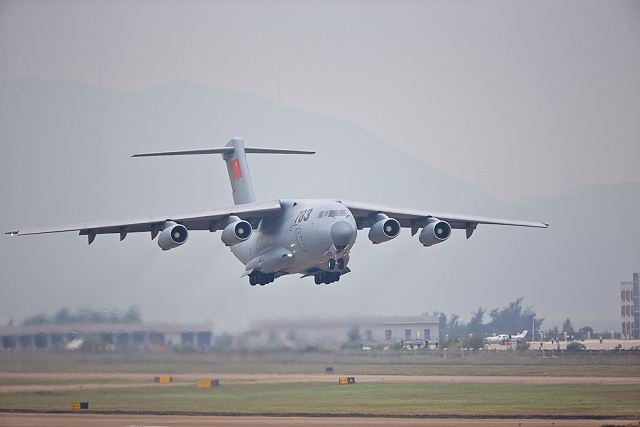"China's first domestically developed strategic air lifter, the Y-20 Kunpeng, made its first public appearance at Airshow China 2014, which was held at Zhuhai last week. The Y-20 airlifter will soon be delivered to users, a senior aviation executive said, adding that the development of its engine is ""faring well""."