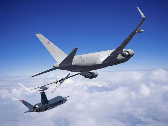 Boeing is assembling the fourth and final KC-46A test aircraft for the U.S. Air Force's next-generation aerial refueling tanker program at the company's Everett factory, keeping the program on track to deliver the initial 18 tankers to the Air Force by 2017.