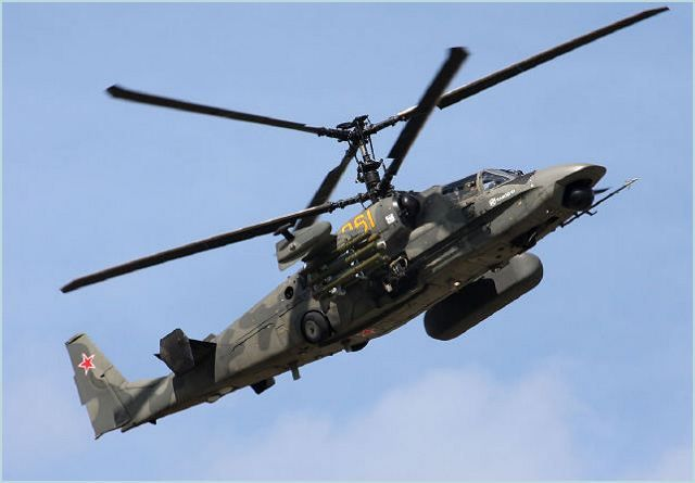 "The aviation divisions of the Russia's Eastern Military District in 2015 will receive 22 attack helicopters Ka-52 ""Alligator"", the press service of Eastern Military District said Monday. In late 2014, representatives of the aviation units of the Eastern Military District at an aircraft factory ""Progress"" in Primorsky Krai finished acceptance of the six combat helicopters Ka-52 ""Alligator""."