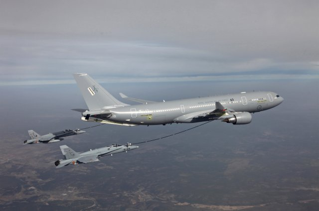 According to the South Korean news agency Yonhap, Airbus today beated Boeing in the competition to supply South-Korea with four aerial refueling tanker. Total amount for the project has been estimated to $1.3 bn. The first two tanker will be delivered by 2018 and another two the next year. The two other competitors were Boeing with its KC-46 Pegasus, currently in development, and Israel Aerospace Industries with the B767 MMTT.