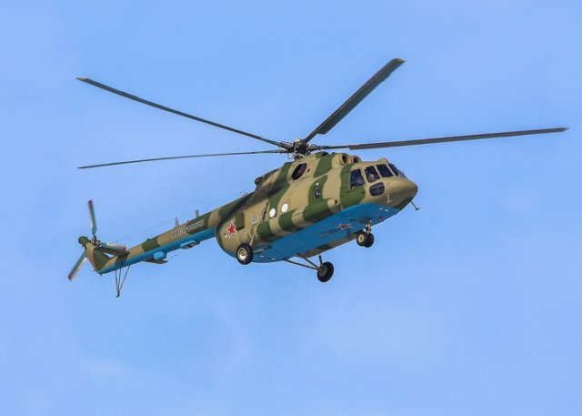 The Russian Air Force (VVS) received three new Mi-8MTPR-1 electronic warfare (EW) helicopters on 4 March. The Mi-8MTPR-1 is a standard Mi-8MTV-5-1 with a 'Rychag-AV' active jamming station installed onboard. The helicopters are designed to be able to detect and suppress electronic command-and-control systems as well as the radars of surface-to air and air-to-air missiles.