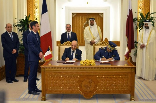 The multibillion-dollar contract between the State of Qatar and Dassault Aviation for 24 Rafale multirole fighter aircraft has been signed on Monday, May 4 in Doha in the presence of Mr. François Hollande, President of the French Republic. Following on from the Mirage F1, the Alpha Jet and the Mirage 2000, the Rafale is set to extend the historic partnership between Qatar, France and Dassault Aviation.