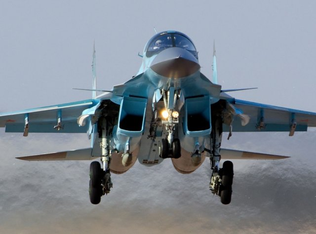 The Russia-based Sukhoi Company handed over the first batch of Su-34 frontline bombers to the Ministry of Defense of the Russian Federation according to the 2015 State Defense Order. The aircraft took off from the V.P. Chkalov Novosibirsk Aircraft Plant's airfield and headed to their place of deployment, the aircraft maker announced on May 21.