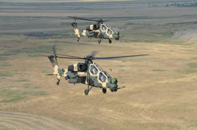 The Turkish General Staff announced it has begun using the first domestically made Turkish attack helicopters in a counter-terrorism operation for the very first time. Two ATAK attack helicopters flew on April 25 to the southeastern province of Siirt to join the 3rd Commando Brigade, the General Staff said in an announcement posted on its official webpage on May 4.