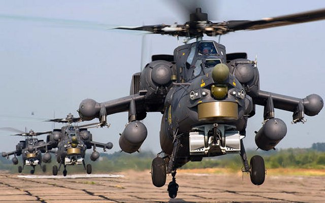 New onboard avionics for the Mi 28NM attack helicopters now enables interactions with UAVs 640 001