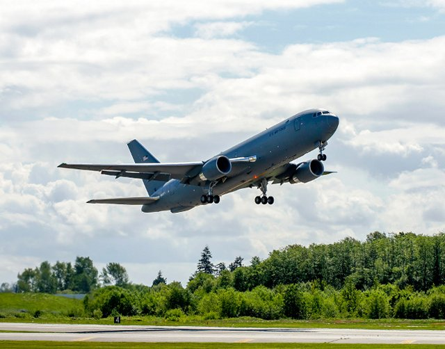 Boeing final KC 46 Pegasus test aircraft made its maiden flight 640 001