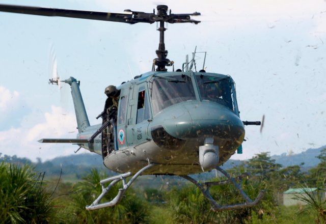 Colombian Air Force takes delivery of its 7th Huey II helicopter upgrade ki 640 001