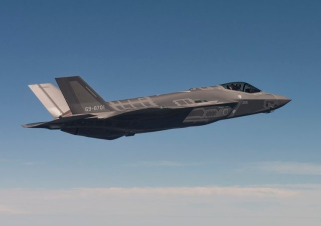 Japan first F 35A fighter jet made its maiden flight 640 001