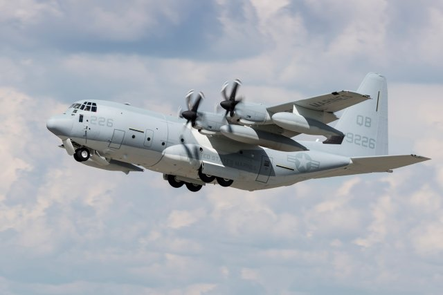 US Marine Corps receives 50th KC 130J tanker transport aircraft 640 001