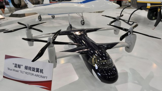 China developing ultra fast tilt rotor chopper