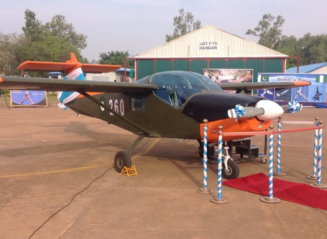 Nigeria takes delivery of its first Super Mushshak basic trainer aircraft 640 001
