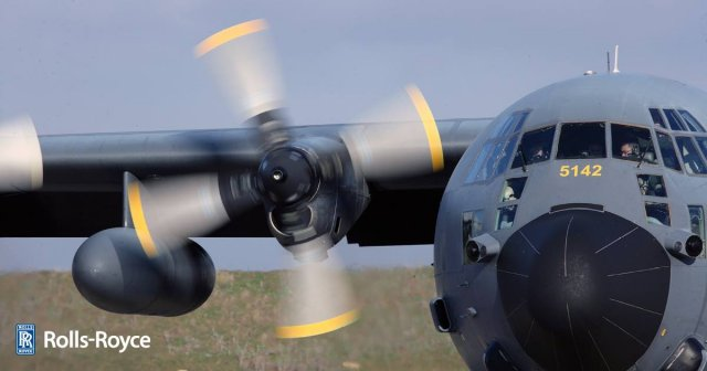 USAF flies first C 130H equipped with T56 Series 3 640 001