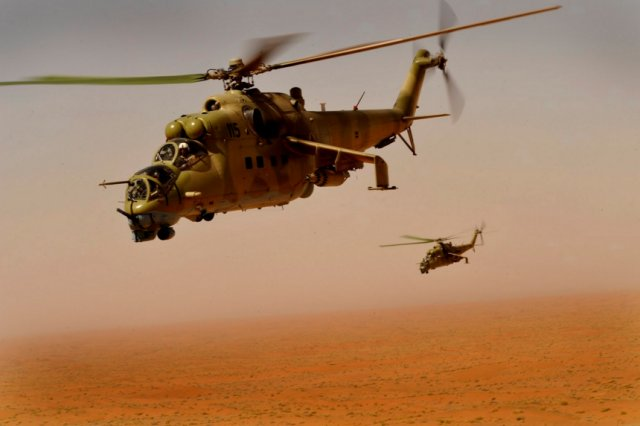 Cameroon receives its first Mi 24 Hind combat helicopter 640 001