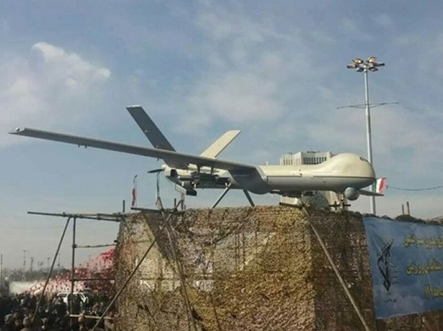 Iran unveils new design for its Shahed 129 Unmanned Combat Aerial Vehicle 640 001