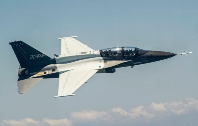 Lockheed upgraded T 50A trainer aircraft completes first flight 640 001