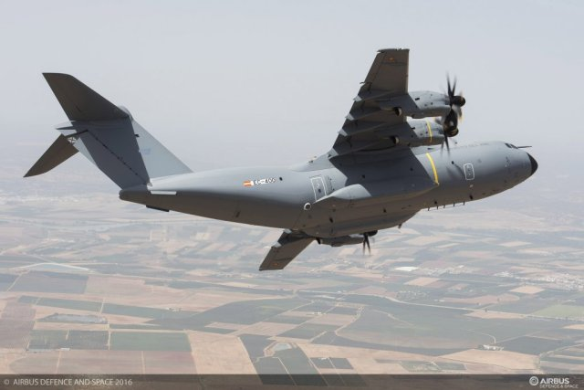 Spain receives its first A400M strategic military airlifter 640 001