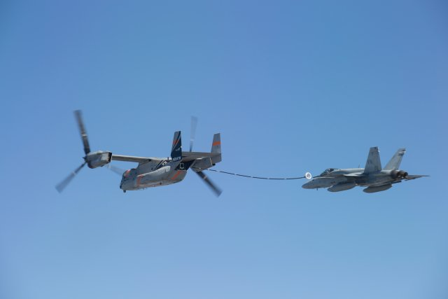 Cobham to develop aerial refueling kit for USMC s MV 22B tiltrotor aircraft 640 001