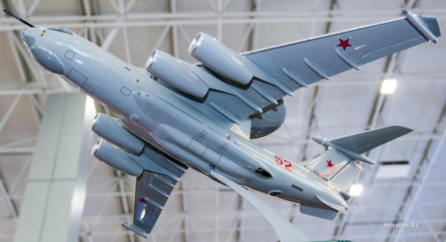 Scale model of Russia s future A 100 AWACS aircraft spotted at Army 2016 exhibition 640 001
