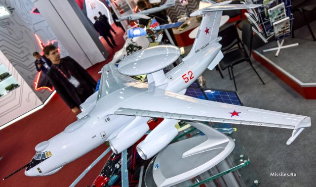 Scale model of Russia s future A 100 AWACS aircraft spotted at Army 2016 exhibition 640 002