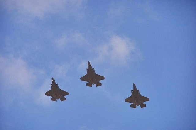 Israe Air Force takes delivery of three more F 35I Adir fighter jets 640 001