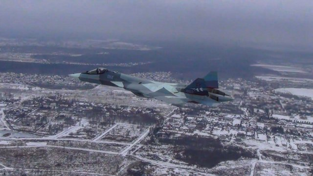 Russia Su 57 fighter jet akes maiden flight with new engin 640 001