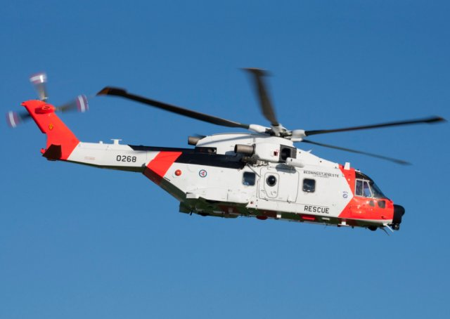 Leonardo delivers first of 16 AW101 SAR choppers to Norway 640 001