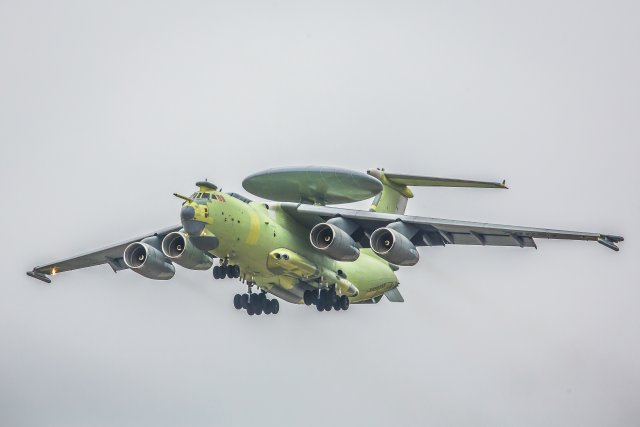 Russia A 100 EW C aircraft prototype makes maiden flight 640 00