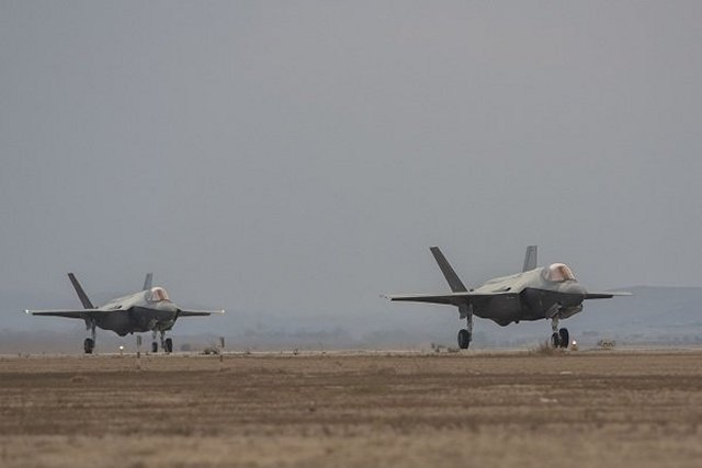 Two more IAF F 35I Adir fighter jets landed in Nevatim AFB 640 001