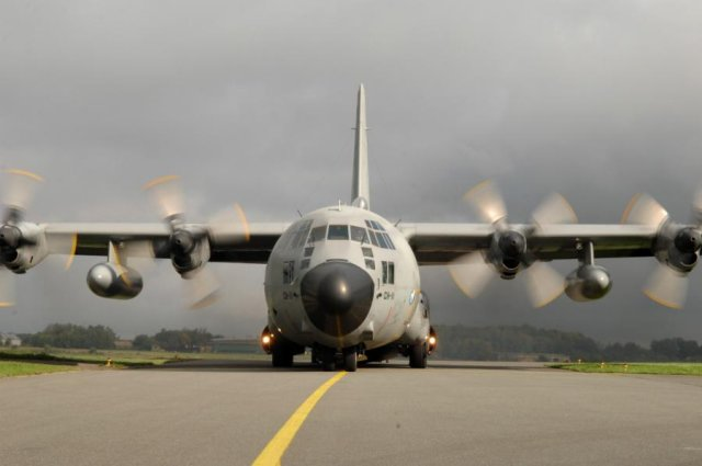 Belgium retires first C 130H military airlifter 640 001