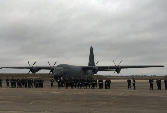 French Air Force welcomes first C 130J 30 airlifter 640 001