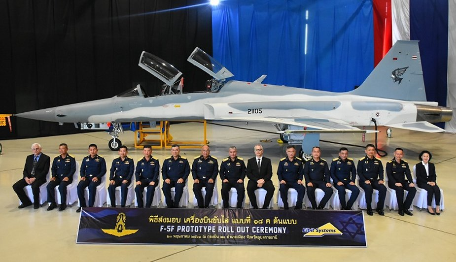 Royal Thai Air Force receives first F 5F Super Tigris prototype 001