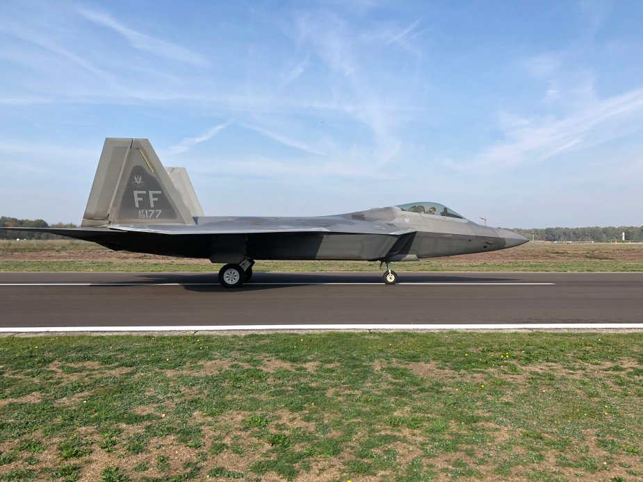 USAF F 22 Raptor fighters deploy to Belgium for joint training with BAF 001