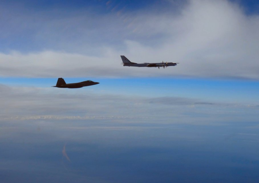NORAD F 22s scrambled as Russian bombers approach Alaskan airspace 001
