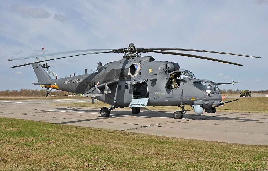 All Mi 35M assault helicopters equipped with Vitebsk onboard defense system