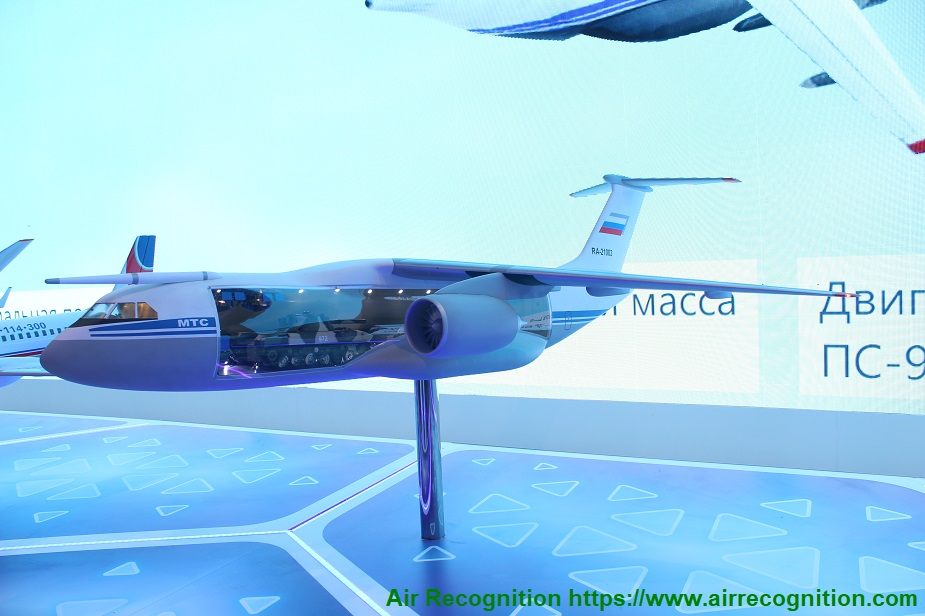 Russia TsAGI completed the design of a large scale model of Il 276 airlifter