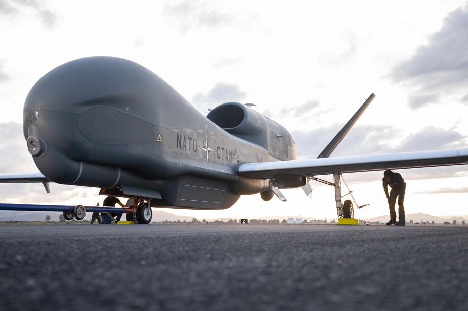 First NATO AGS remotely piloted aircraft ferries to Main Operating Base in Italy