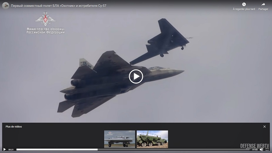 Russias latest attack drone Okhotnik performs 1st joint flight with Su 57 fifth generation plane VIDEOLINK