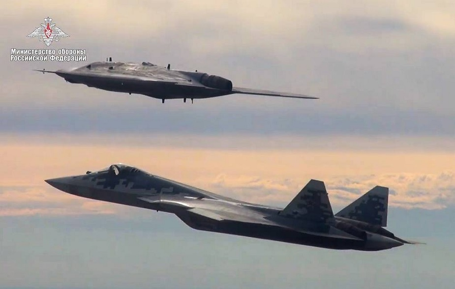 Russias latest attack drone Okhotnik performs 1st joint flight with Su 57 fifth generation plane