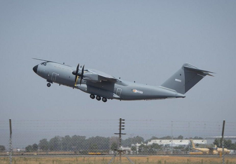 Successful maiden flight of the first Belgian Air Component A400M Atlas