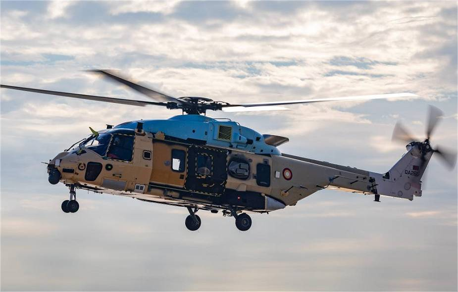 Airbus Helicopters conducts first flight with Qatari NH90 TTH Tactical Troop Transport helicopter 925 001