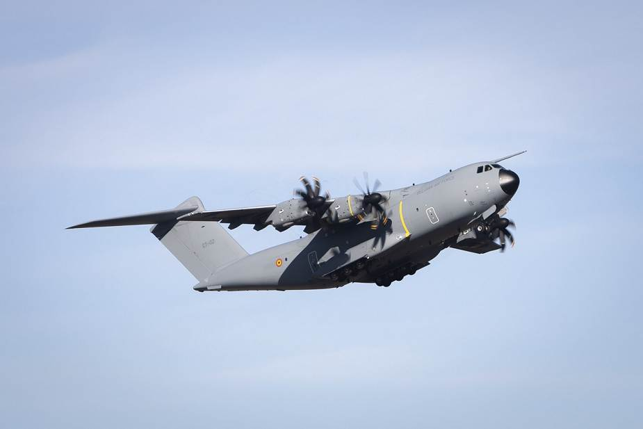 Belgian Air Forces takes delivery of its first new A400M MSN106 military transport aircraft 925 001