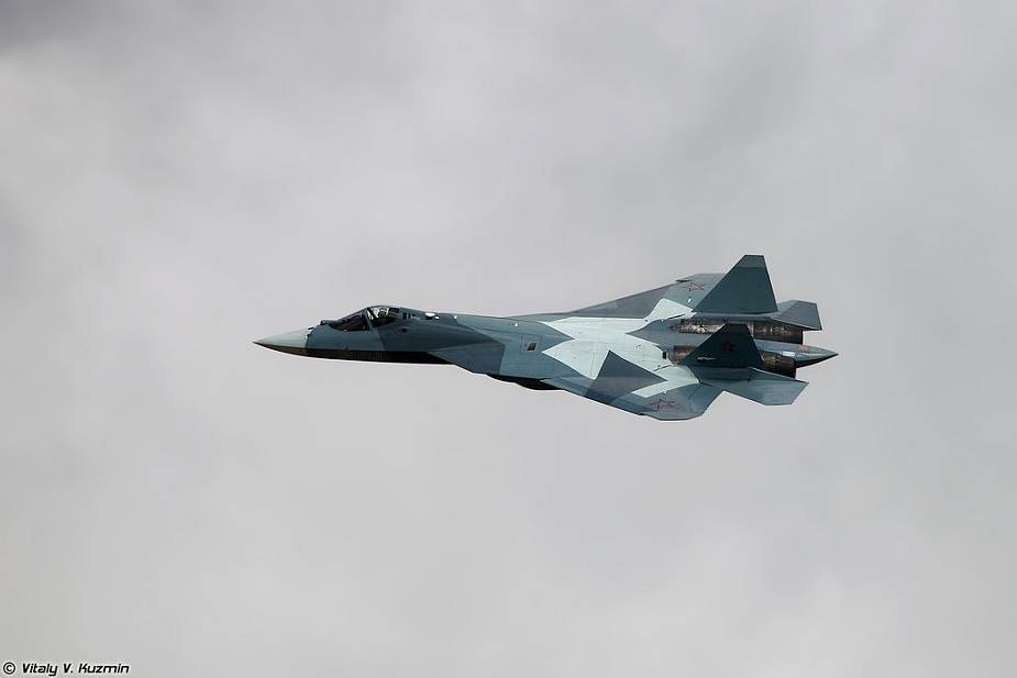 First serial production of Sukhoi Su 57 fighter aircraft delivered to Russian Air Force test center 925 001